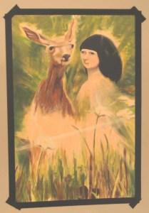 ילדה ואיילה ציור copy